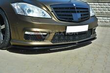 FRONT SPLITTER (GLOSS BLACK) - MERCEDES S-CLASS W221 AMG (2005-2013)