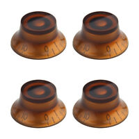 4 Pcs Guitar Knobs Top Hat Amber Bell Knobs for SG Style Parts