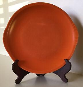"Vintage California Pottery 10""  Cake-Cookie-Serving Tray ~ Matte-Satin Orange"