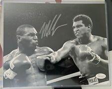 MIKE TYSON & Signed 8x10 Black/White Photo with Muhammad Ali JSA COA BOXING