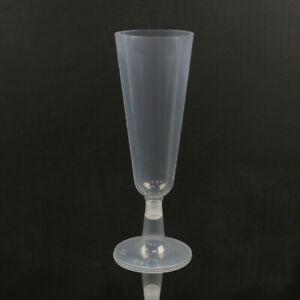 PLASTIC CHAMPAGNE GLASSES WHOLESALE - Clear Disposable Cup Flutes Glass  - 150ml