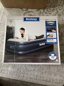 Bestway Tritech Material Airbed Indoor Air Mattress with Built-In Pump