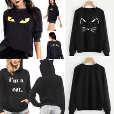 New Womens I AM A Cat Hoodies Cat Pullover Sweatshirt Long Sleeve Jumper Tops AU