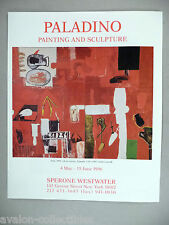 Paladino Art Gallery Exhibit PRINT AD - 1996 ~~ Sette