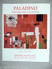 Paladino Art Gallery Exhibit PRINT AD - 1996 ~~ Sette