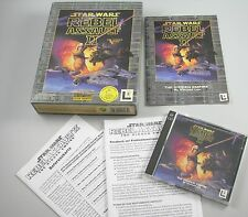 Star Wars Rebel Assault II 2 the hidden Empire PC inglés alemán ms-dos Bigbox