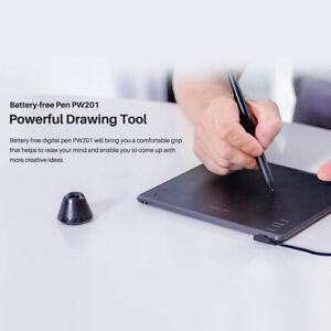 Digital Drawing Tablet Huion H430P Battery Stylus Pen 4096 Pressure 5080LPI Y2F4