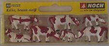 NOCH 15723 Cows 'Brown & White' 00/H0 Model Railway Animals