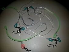 1 X FISH DON'T LET GO 250LB RIGS 3 DROPPERS LUMO SWAPABLE 12/0 TUNA CIRCLE HOOKS