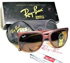 "Ray-Ban USA *NOS Vintage B&L ""Cats 1000"" W1203 Matte Brown *B-15 *NEW Sunglasses"