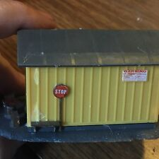 Vintage Model Train HO Scale Model Train Rail Side Building with Wood Bin