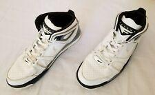 Mens Sz 13 White Black Grey Nike Air Flight Falcon Basketball Leather Shoes used