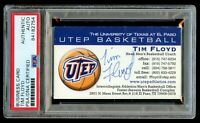 Tim Floyd signed autograph UTEP Basketball Coach Business Card PSA Slabbed