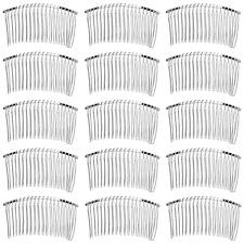 Leevia 12 Pieces 20 Teeth Hair Clip Combs Metal Hair Combs Twist Combs Bridal