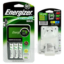Energizer MAXI Charger for AAA & AA NiMH + 4 AA 2000 mAh rechargeable batteries