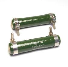 2x Leistungs-Widerstand Draloric 10 Ohm, 40 Watt, Typ GWS 50