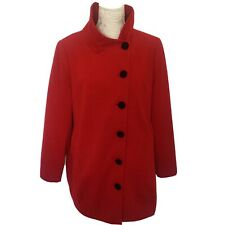 Ladies Red Coat By Coleen Size 18