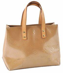 Authentic Louis Vuitton Vernis Reade PM Hand Bag Beige M91144 LV D3497
