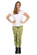Pantaloni da donna verde slim, skinny, treggings