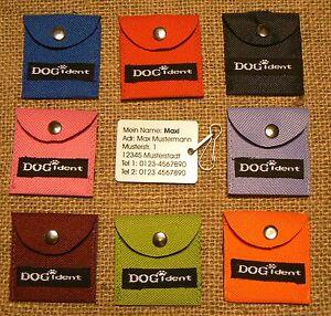 DogIdent   Adressanhänger Namensschild Tasche mit Plakette + Gravur NEU DogIdent