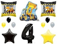 CONSTRUCTION 4th Fourth Happy Birthday Party Balloons Decoration Supplies Truck