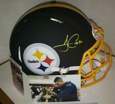 James Conner Autographed Pittsburgh Steelers Matte Black F/S Helmet W/Pic of him