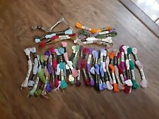 200 yard mixed colours stranded cotton embroidery thread all Coats DMC carded