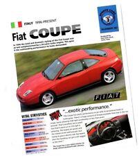 1996 / 1997 FIAT COUPE 20v / 20 V TURBO IMP Brochure