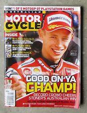 Motorcycle News AMCN Oct 2007 OZ GP 1400GTR VERSYS PIAGGIO TRIUMPH YAMAHA TZ750