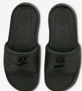 """Nike Victori One Slide """"Black-Black- Women's Unisex Sliders Slippers size UK 3-8"""
