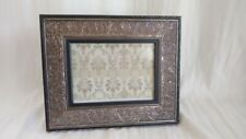Sheffield Home Vintage Style Wood & Silver Plate Etched Picture Frame 5 x 7
