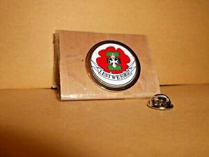 Royal Green Jackets poppy Lapel pin badge