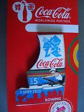 COCA COLA PIN BADGE - LONDON 2012 - DAY 5 ROWING PARALYMPICS - MOC