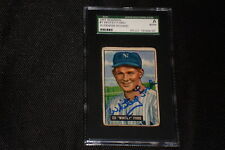 HOF WHITEY FORD 1951 BOWMAN ROOKIE SIGNED AUTOGRAPHED CARD #1 SGC SLABBED