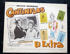 """MARIO MORENO CANTINFLAS """"EL EXTRA"""" ALMA DELIA FUENTES CARMEN MOLINA LOBBY CARD"""