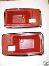 1975 - 1981 TRANS AM FIREBIRD CAMARO - DOOR HANDLE BEZEL / CUP SET - BRIGHT RED