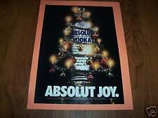 ABSOLUT JOY AD -1994-MINT GRADE