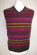 Joules Mens Sleeveless Jumper, Size L, Brown Mix, Wool Blend, RRP £59.95, BNWT