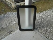 *RV ENTRY DOOR WINDOW FRAME FROSTED WINDOW LCI BLACK FREE SHIPPING