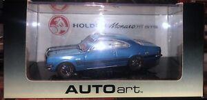 AutoArt 53411 Holden HT GTS350 Monaro 1969 Monza Blue #5 Of 5000 - 1:43 Scale