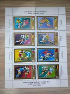 Hungary 1972 Air. Euro Football Championships stamp sheet CTO sg:2668-2675