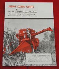 Ih International Harvester Mccormick 101 Amp 151 Combine Corn Head Units