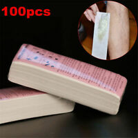 100X Non-woven Hair Removal Paper Depilatory Wax Strips Epilator Waxing Tools