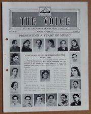 THE VOICE HMV Gramaphone's monthly magazine India Oct 1961