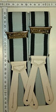 HERKULES  suspenders  Made in Germany  grey / black  Preussen size Small   90 cm