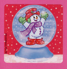 15 Snowman Snowglobe - Large Stickers - Party Favors - Christmas Winter Holiday