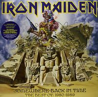 "IRON MAIDEN ""SOMEWHERE BACK IN... BEST OF"" 2 LP VINYL"