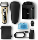 Braun Series 9 9299 cc Shaver Electric Man Station Cleaning And Charging Gold