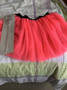 Neon Pink Tutu With Wand XL Fits Approx 18/20