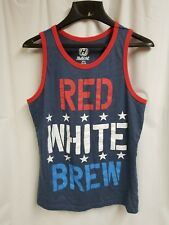 Red, White, Brew Men's Tank Top Size S,34-36 Preowned